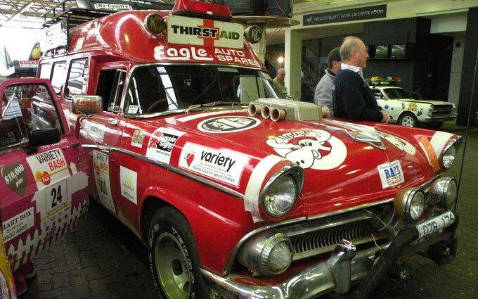 Thirst Aid vintage Coca Cola style car.
