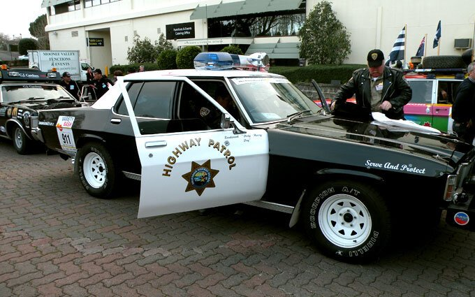Highway Patrol car.