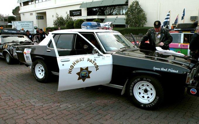 Highway Patrol car.