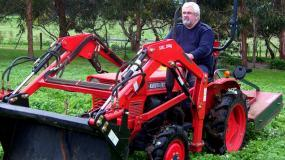Mick Fennessy with his Kubota L1801DT 22hp diesel 4WD.
