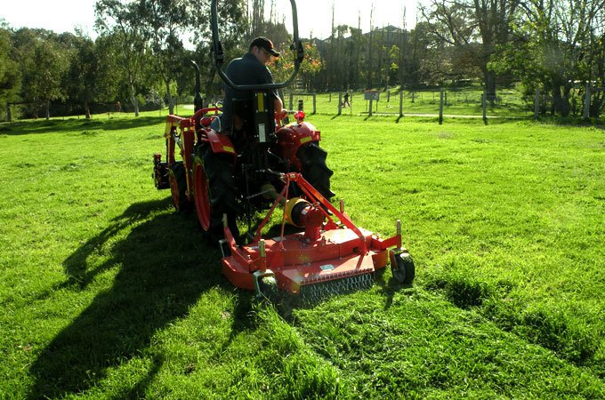 Finishing mowers are used for excellent lawn presentation.