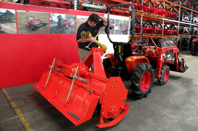 Del Morino tractor implements are designed for small tractors from the ground up.