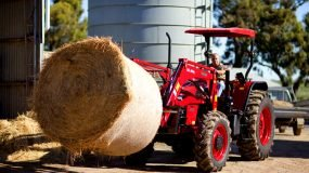 APOLLO tractors are ideal for lifting round bales.