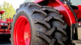 Tractor Safety - Duals set on narrow tyre bias.