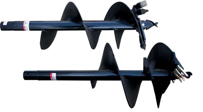 AGMAX augers – AU450 (18″) and AU600 (24″).