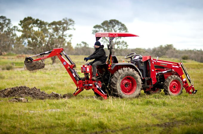 The AGMAX VT3 backhoe is great for digging holes as well as trenches.