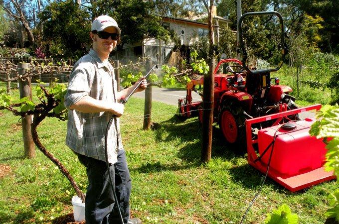 Spray crops easily with a sprayer and spotpak.