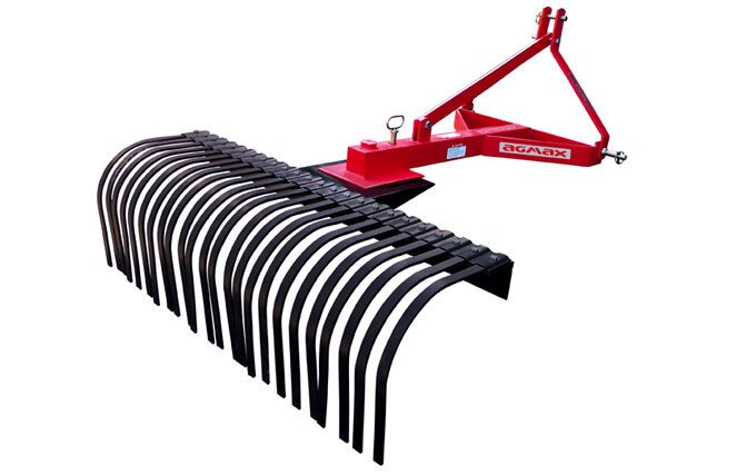 The AGMAX SR120 (4') stick rake is ideal for maintaining dense plantations and its closely spaced tines collect debris with ease.
