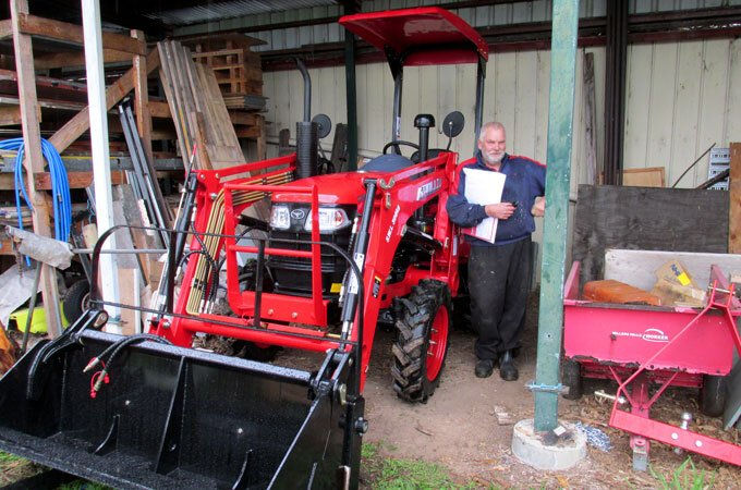 The APOLLO 254 is compact and fits well into a shed, as pictured here.
