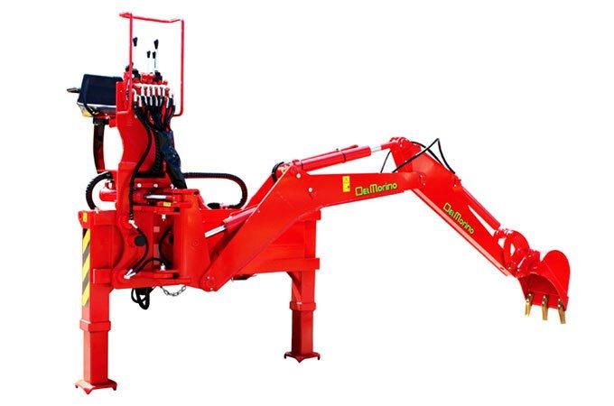 Del Morino tractor backhoe - linkage backhoes