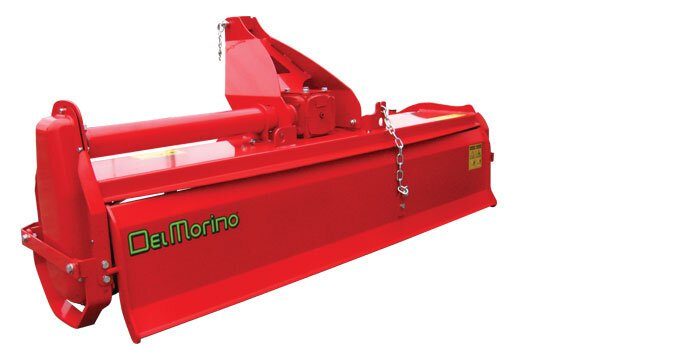 The Del Morino Eagle rotary hoe offers a choice of 4 or 6 blades per flange.