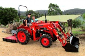 Kubota tractors are a family affair.