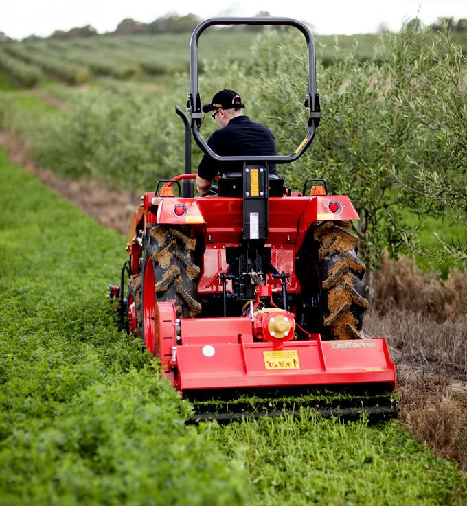 Del Morino flail mowers for small, compact tractors.