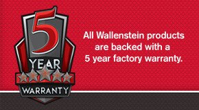 Wallenstein 2 Year Factory Warranty