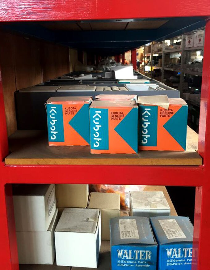 SOTA has Kubota spare parts on the shelf.