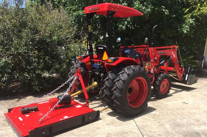 An APOLLO 254 with optional dual wheels is ideal for steeper terrains.