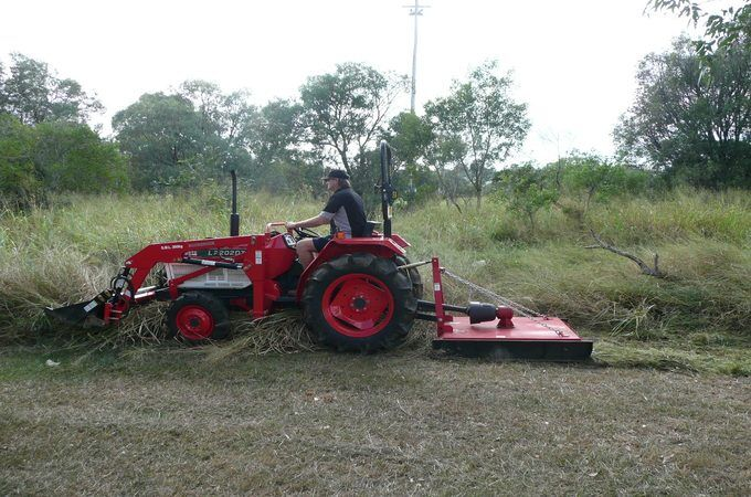 Kubota L2202DT slashing in Queensland