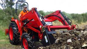 Kubota L3408DT with front end loader.