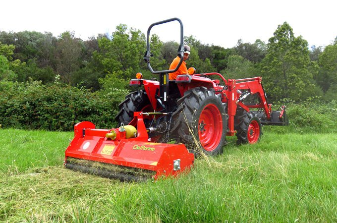 Efficient mowing with a Del Morino FP158 flail mower.