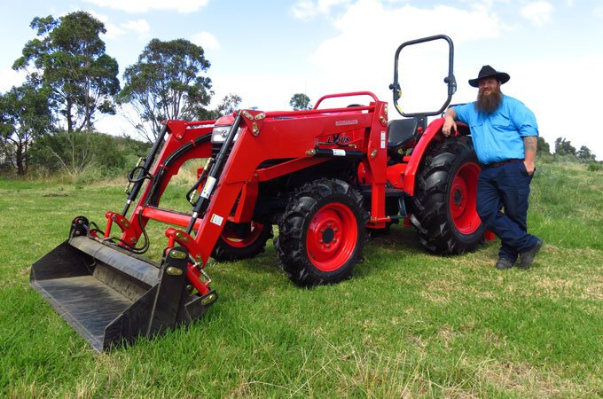 A hard day's work made easy with Kubota L4508DT 45hp.