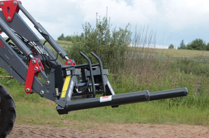 Euro hitch multifunctional bale grab.