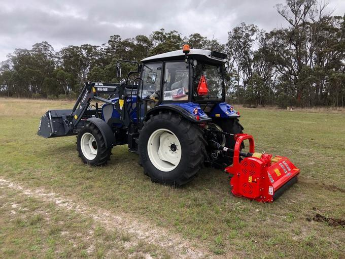Farmtrac 675DT with Del Morino Levante Flail Mower