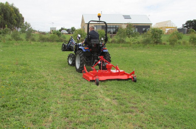 Farmtrac FT30, Ag tyres with Del Morino PRM150 Finishing mower.